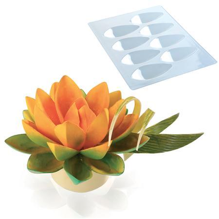 Mt 20 1011 Lotus Chocolate Mould For 8 Petals Tptradco